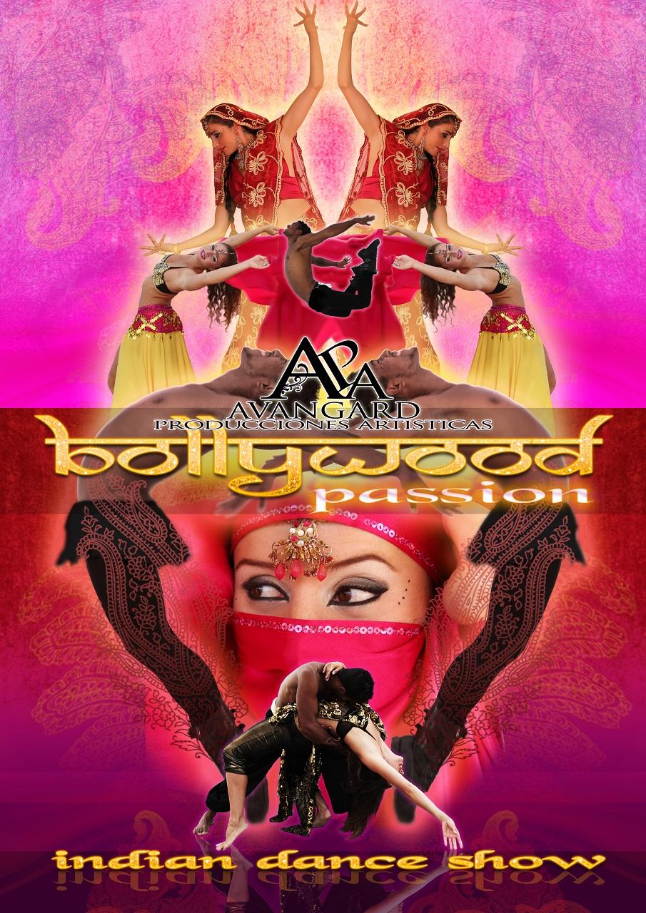 """""""Bollywood Passion """" es un espectáculo compuesto por 5 bailarines profesionales (2 chicos y 4 chicas) integrantes de las dos compañías de Bollywood más reconocidas a nivel estatal: """"Sueños de Bollywood"""" y Masala Dancers y avalados por una extensa carrera profesional en televisión y teatro (Mira quién Baila, El Hormiguero, Cruz y Raya, Noche de Fiesta,Tu Gran Noche, Verano Noche, Espejo público, 101 Dálmatas, Grease, Fama a Bailar, Bollywood Dil Se, Sueños de Bollywood, etc.) Bollywood No es Danza del Vientre, es la industria cinematográfica de Bombay que fusiona diferentes estilos musicales con la danza y estética Hindúes. Ahora mismo está en pleno apogeo y se ha visto salpicado por el éxito de """"Slumdog Millionaire"""" por lo que el público empieza a solicitar más que nunca un espectáculo como éste. """"Bollywood Passion"""" ofrece un recorrido a través de la fusión de una noche oriental, mezclando estilos como salsa oriental con danza contemporánea, funky con oriental, lírico, Acrobacias , números visuales y por supuesto Bollywood con la particularidad de que al final se produce la interactuación con el público haciendo un pequeño taller para conseguir que todos acaben bailando bollywood con el ballet al más puro estilo de las películas."""