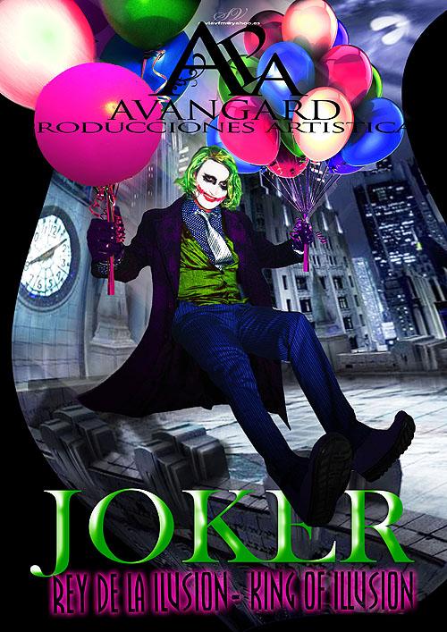 ES UN SHOW ORIGINAL DE MAGIA.  tiempo del show. 45'  Muy divertido,  Joker: musica imagenes y estilo de la pelicula.  El espectaculo es participativo con los niños y adultos.  Es un poco de acciones excentricas tal como joker en si mismo.  Acciones con fuego, pistolas, mucha accion, cuchillos, humo ( simulaciones - NO PELIGROSO - ) El decorado, consta detras de un castillo como GOTHAM el de Batman.  Al final del show tiene la posibilidad de que los niños se hacen fotos con Batman en un stand.