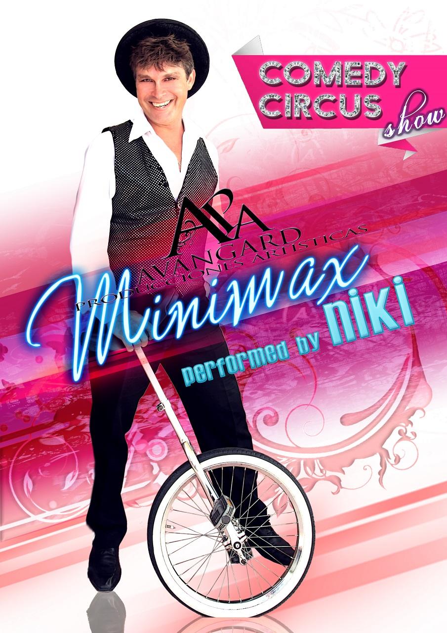 Show, formado, única y esclusivamente por un solo hombre. Malabarista profesional formado en la escuela del circo. Presenta un espectáculo lleno de dinamica, adrenalina y sorpresas. Adecuado para todos los publicos.